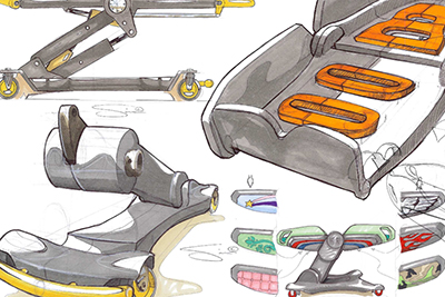 Concept sketches of products