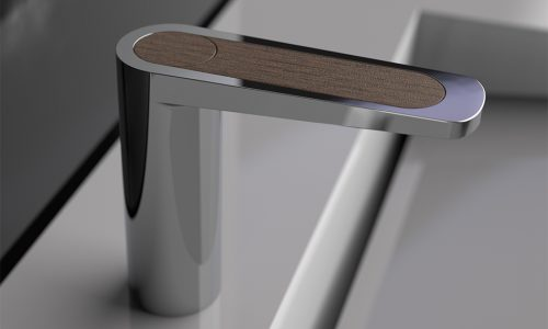 Product render image - wooden tap